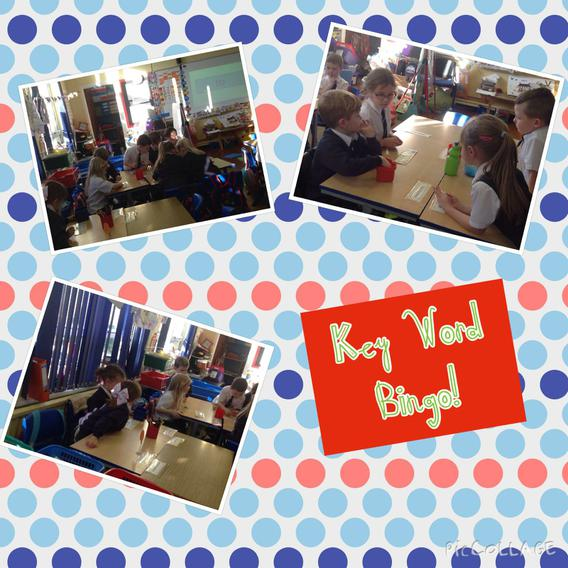 Working in pairs trying to find the key word!