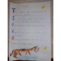 An acrostic poem about a tiger