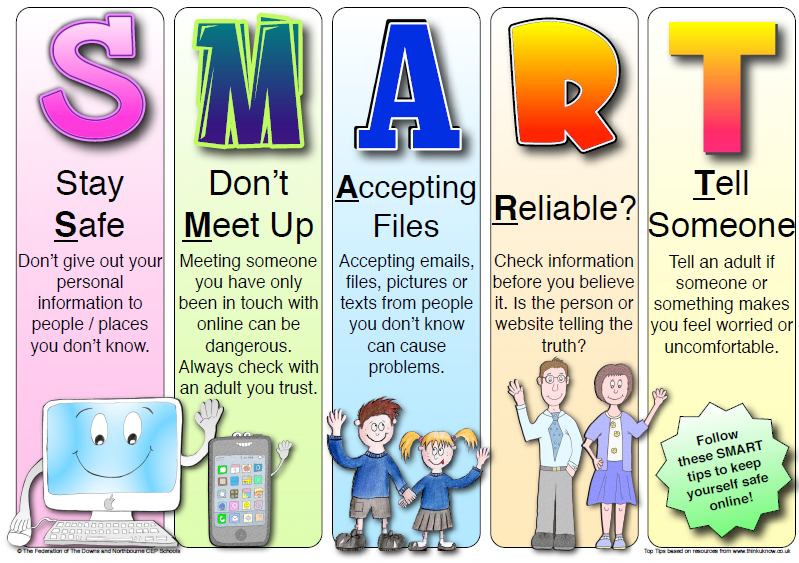 Older children's internet safety poster