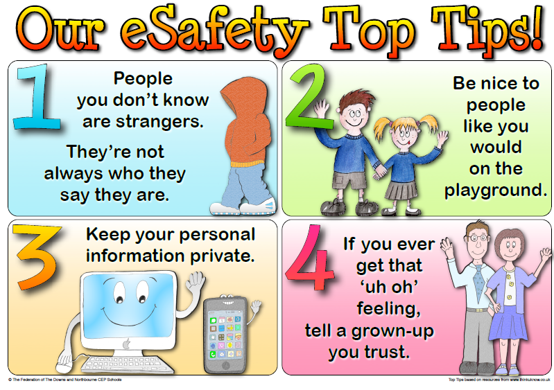 Younger children's internet safety poster