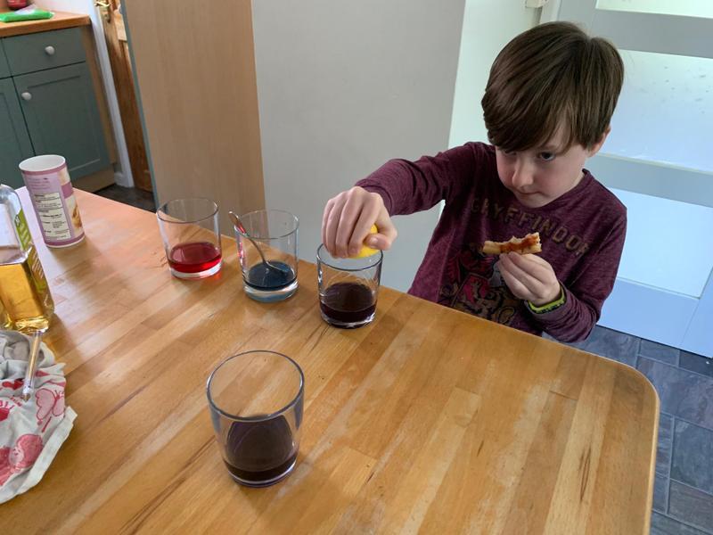 Nathan experimenting!