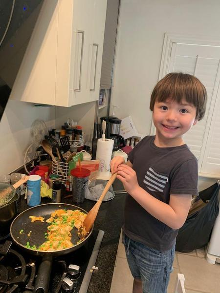 William has helped out with the cooking!