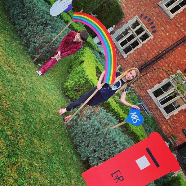 Barnaby and his sister made a rainbow for the NHS!