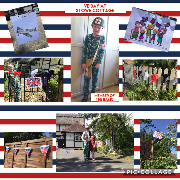 Edward created a pic.collage of his VE Day!