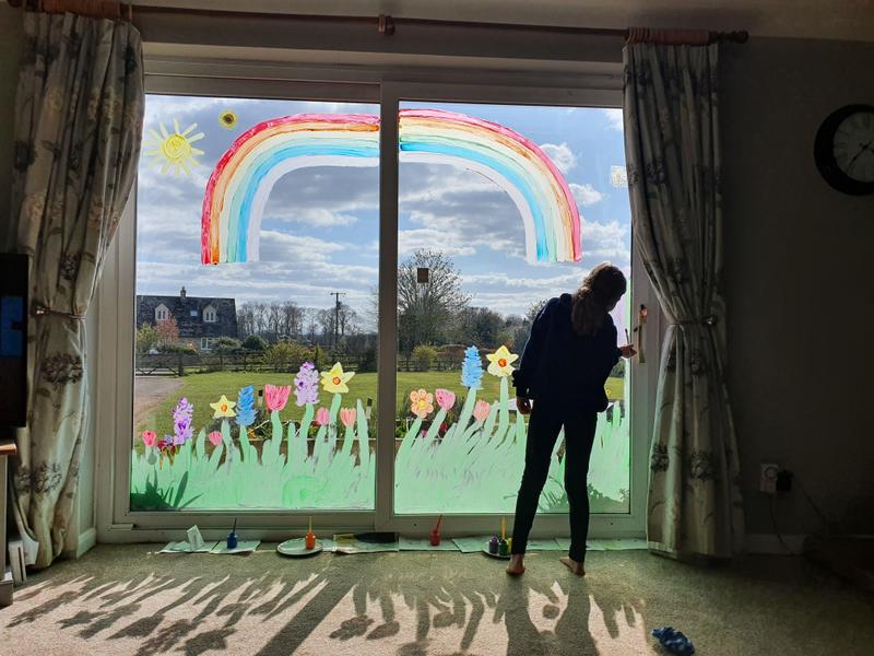 Lily's window mural.