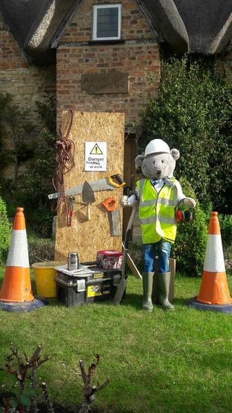 Ted helping with the roadworks!