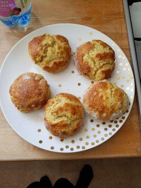 Dani made scones for VE Day afternoon tea.
