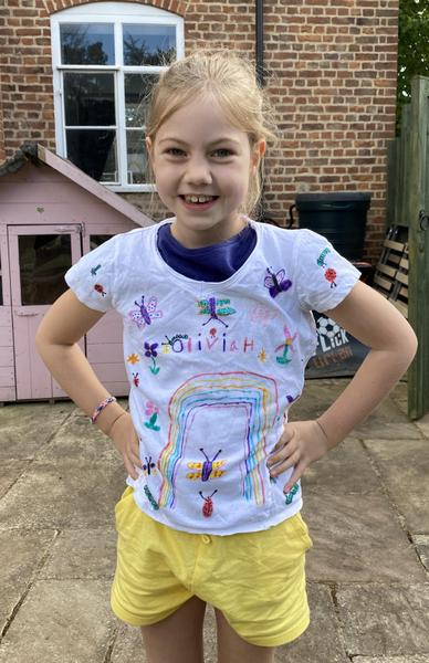 Olivia H got super-creative with a T-shirt!