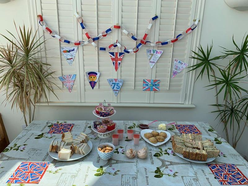 A beautiful VE Day tea table!!