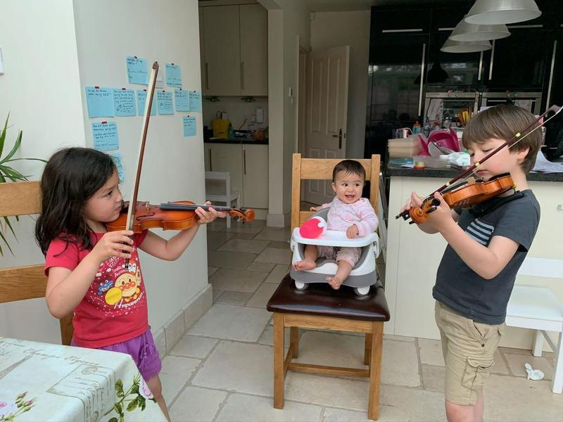 Violin practice must continue!