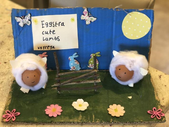 Eggstra cute lambs by Freya