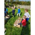 KS1 designing and building hedgehog homes