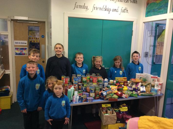 Wow! What an amazing Harvest collection for Clitheroe Foodbank.