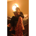 Kelsie (Year 5) reading on her bunk bed in France.