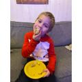 Syzmon K enjoying his cake!