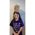 Belle's Minecraft inspired hat