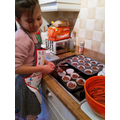 Alia impressed with her cakes!