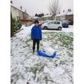 Massi enjoying the snow!