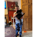 Luke and his cat, Rosie.