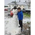 A gorgeous snowman!