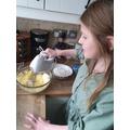 Pandora making her cakes!
