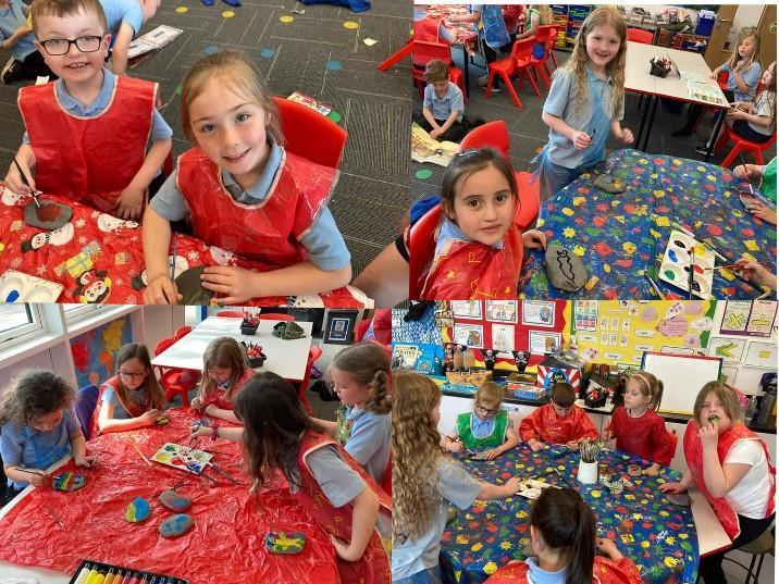 Year 2 pebble painting