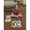 Yara created her board game out of lego! How creative!