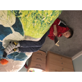 Luke (Year 5) likes to read upside down!