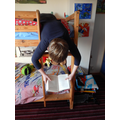 Mackenzie (Year 4) - interesting reading position!