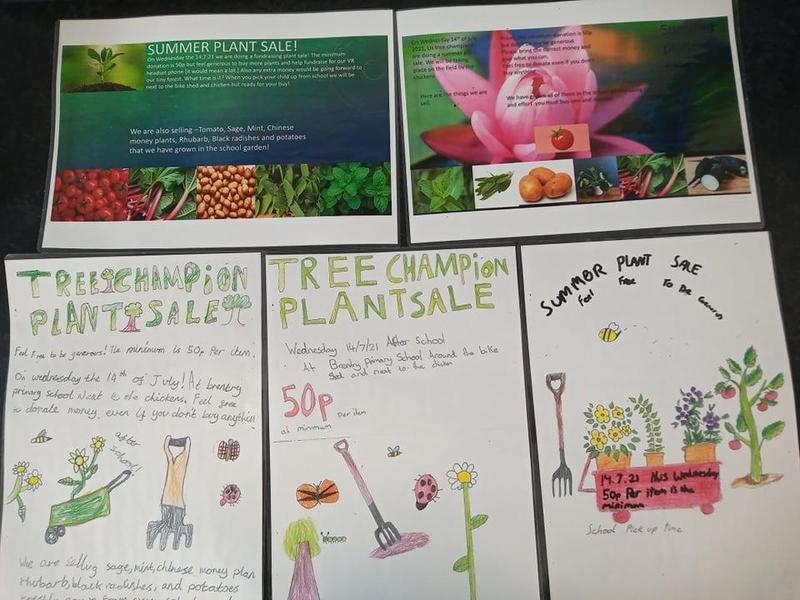 Plant sale posters