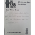 Sebby's Letter to the Three Bears