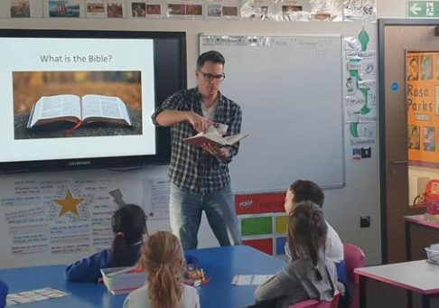 Y3 lesson with Matt about how the bible is used.