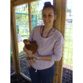 Miss Millard with Rolo (Reception Chicken)