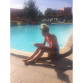 Miss Evans read lots of books on holiday