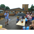 Mr Clarke welcomes the crowds