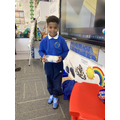 Yasin shared homemade cakes as part of his Eid celebrations.