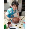 Massi super proud of this amazing cake!