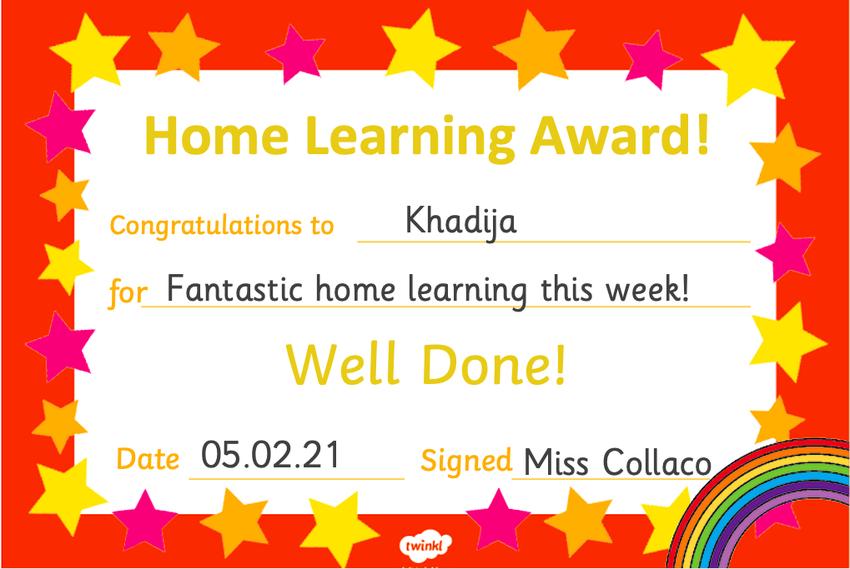 Well done Khadija!