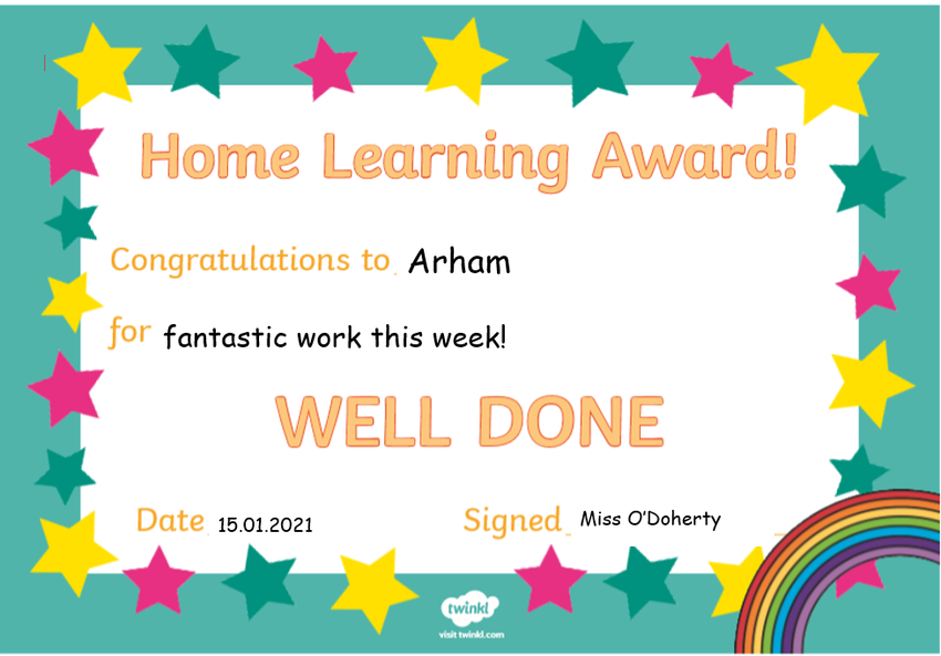 Well Done Arham! You've posted your work on Tapestry everyday!