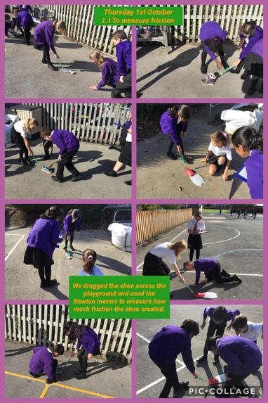 Science investigation in SM7 - friction