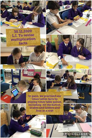 SM9 revising multiplication facts by playing lots of times table games!