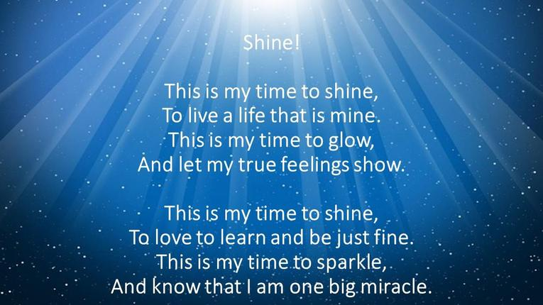 This is the latest poem shared with the children