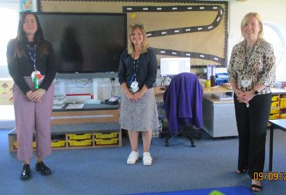Mrs Hancox, Mrs Bridges and Mrs Dearing
