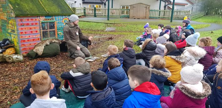 Stone Age learning outdoors.