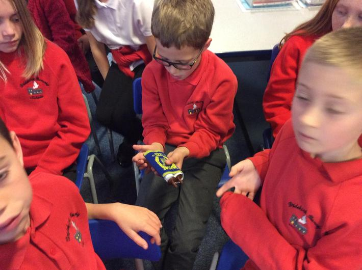 We also looked at some examples of Jewish items we have in school.