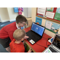 Showing year 1 how to use Accelerated Reader