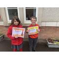 Year 2 certificate winners