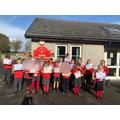 Class winners show their certificates