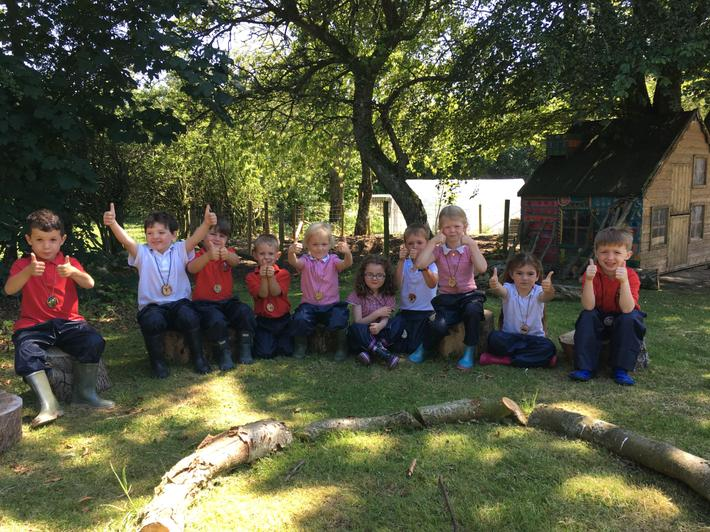 Thumbs up for our first Forest School session