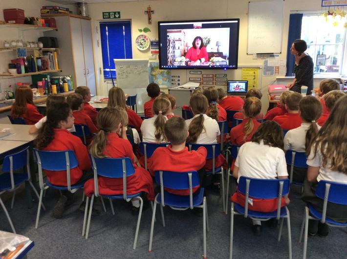 We had a visitor today (via zoom!) who told us all about her Jewish faith.